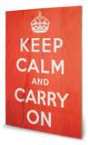 Keep Calm Wood Sign