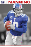 New York Giants Eli Manning with Football Posters