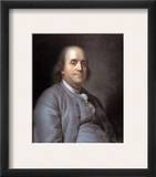 Benjamin Franklin Framed Giclee Print by Joseph Siffred Duplessis