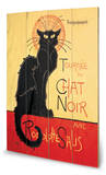Chat Noir Panneau en bois