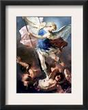 The Archangel Michael Framed Giclee Print by Luca Giordano