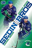 Vancouver Canucks Sedin Brothers Henrik Daniel Posters
