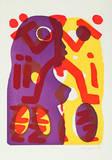 Serie II Du (Lila-Gelb) Edição limitada por A. R. Penck