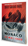 Monaco Grand Prix-29 Mai 1960 Wood Sign