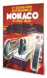 Monaco Grand Prix-6 Avril 1930 Wood Sign