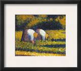 Seurat: Farm Women, C1882 Framed Giclee Print by Georges Seurat