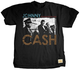 Johnny Cash - Security (premium) T-shirts by Jim Marshall