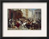 Wall Street: Bears &amp; Bulls Framed Giclee Print by William Holbrook Beard