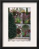 India: Garden Framed Giclee Print