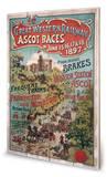 London Ascot Wood Sign