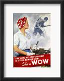 World War Ii Poster Framed Giclee Print