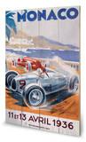 Monaco-11 et 13 Avril 1936 Wood Sign