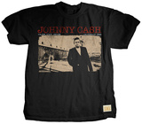 Johnny Cash - Standing Tall T-Shirt by Jim Marshall
