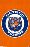 Detroit Tigers Retro Logo Psters