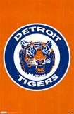 Detroit Tigers Retro Logo Posters