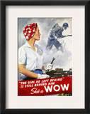 World War Ii Poster Framed Giclee Print