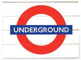 London Underground Sign Panneau en bois