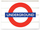 London Underground Sign Wood Sign