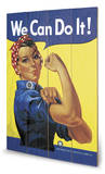 Rosie the Riveter Panneau en bois