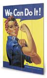 Rosie The Riveter - Ahşap Tabela