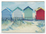 Suffolk Beach Huts Cartel de madera