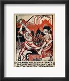 Russia: Soviet Poster, 1920 Framed Giclee Print by Nikolai Kogout