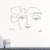 Le Visage de la paix, 1950 Autocollant par Pablo Picasso