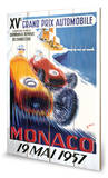 Monaco Grand Prix-19 Mai 1957 Wood Sign