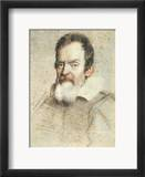 Galileo Galilei (1564-1642) Estampe encadr&#233;e par Ottavio Leoni