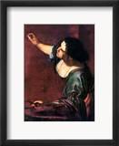 Artemisia Gentileschi Indrammet giclee-tryk af Artemisia Gentileschi