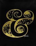 Ampersand (Gold) Sérigraphie par Kyle & Courtney Harmon