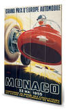 Monaco Grand Prix-22 Mai 1955 Wood Sign