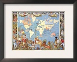 Map: British Empire, 1886 Framed Giclee Print by Walter Crane