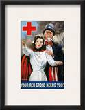 World War Ii: Red Cross Framed Giclee Print by James Montgomery Flagg