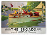 The Broads Panneau en bois