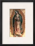 The Virgin Of Guadalupe Framed Giclee Print by Miguel Hidalgo