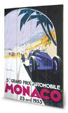 Monaco Grand Prix-23 Avril 1933 Wood Sign