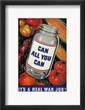 Wwii: 'Can All You Can' Estampe encadrée