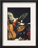 St. Cecilia And The Angel Framed Giclee Print by Carlo Saraceni