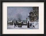The First Snow, 1877 Framed Giclee Print by Joseph Hoover