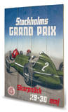 Stockholms Grand Prix Wood Sign