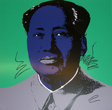 Mao Tse-Tung Kopf Blau-Lila S&#233;rigraphie par Andy Warhol