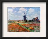 Monet: Tulip Fields, 1886 Framed Giclee Print by Claude Monet