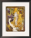 Mucha: Cigarette Papers Framed Giclee Print by Alphonse Mucha