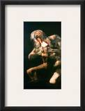 Goya: Saturn, 1819-23 Framed Giclee Print by Francisco Goya