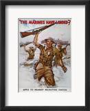 Wwii Recruiting Poster Estampe encadrée par James Montgomery Flagg