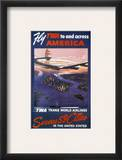 Trans-World Airlines 1950S Framed Giclee Print