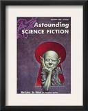 Science Fiction Cover, 1954 Framed Giclee Print by Frederick Brown