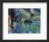 Cezanne: Annecy Lake, 1896 Gerahmter Giclée-Druck von Paul Cézanne