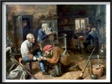 Village Barber-Surgeon Poster by Adriaen Brouwer
